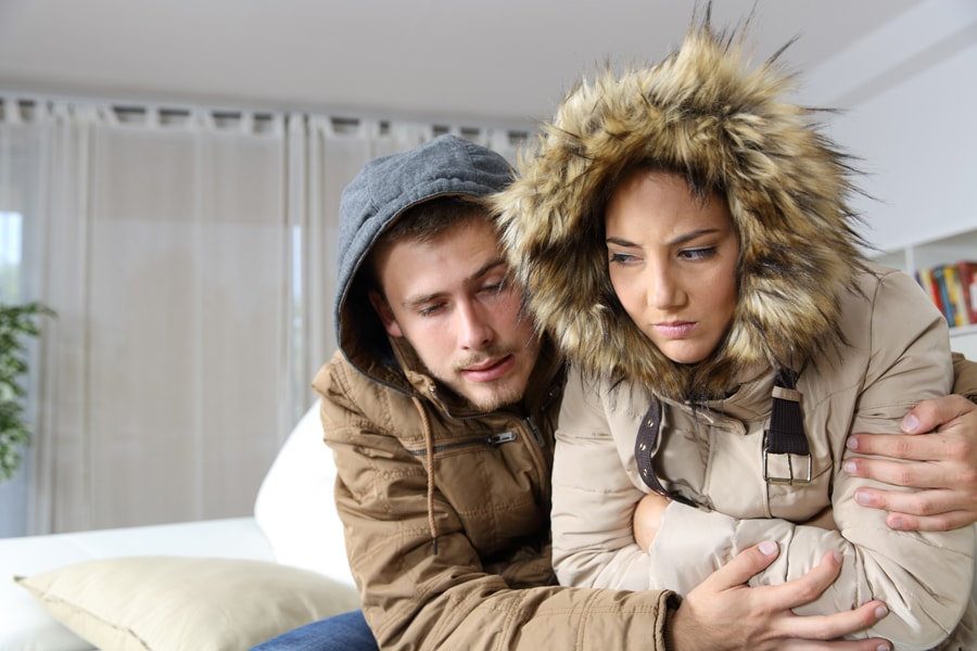 Couple Freezing In Home With No Heat